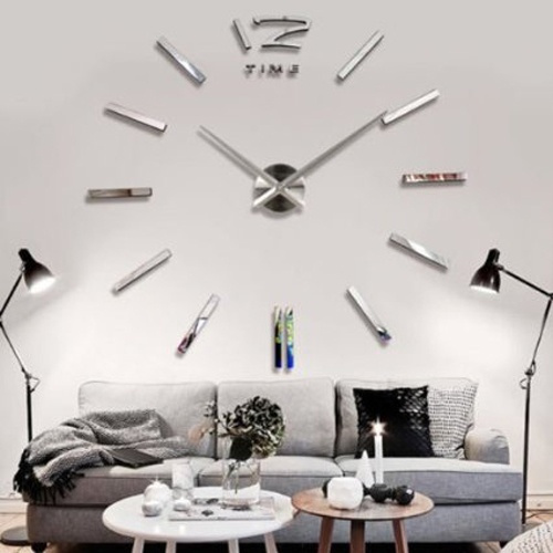 Wish 3d Diy Horloge Murale Moderne Pendule Pour Decoration Miroir