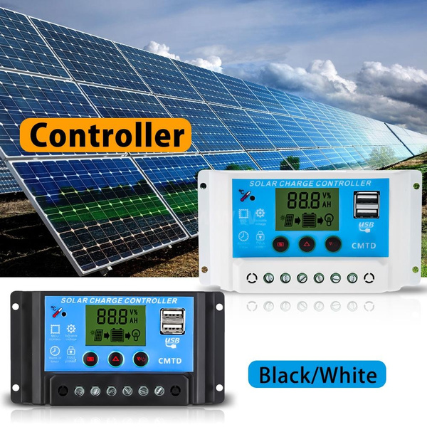 Picture of 10a/20a Solar Charge Controller Auto Regulator Timer Solar Panel Pwm Battery Street Lighting Temperature Compensation 12v/24v