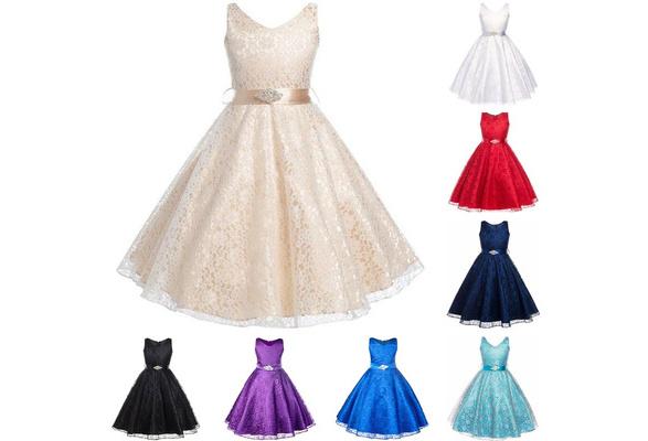 Elegant Girls V-neck Tulle Dress Kids Girls Summer Princess Dresses Party Formal Dancing Vestidos Wedding Events Bridesmaid Clothes