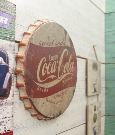 Wish   Beer Bottle Cap Metal Coca Cola Painting Vintage Tin Sign ...