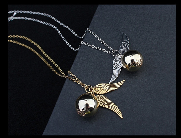 "Képtalálat a következőre: ""2016 Hot Sale Occident Retro Fashion Harry Potter Snitch Gold Pendant Movie Theme Necklace Angel Wing Chain"""