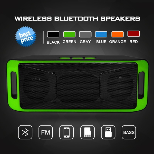 Picture of Wireless Speakers Wireless Bluetooth Speakers Outdoor Portable Bluetooth Audio Subwoofer Speakers Small Sound Card Support Tf /Usb/ Fm Radio