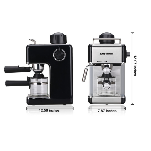 Excelvan 240ml 35bar Electric Steam Espresso Coffee Machine 4 Cups Capacity Fda Certificated