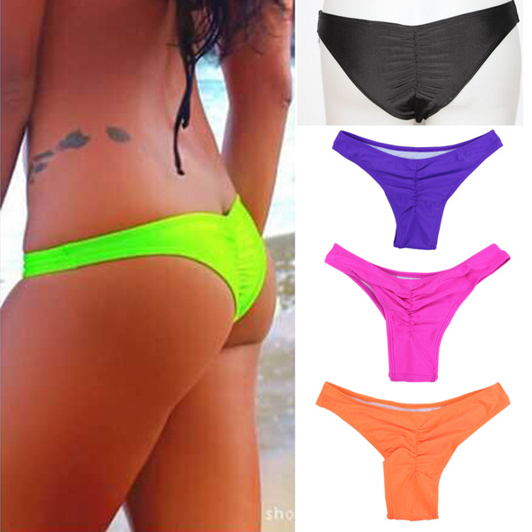 Sexy Women Bikinis Bikini Thong Lovely Bottom Swimsuit Brazilian Cheeky Swimwear Semi Thong Bottom