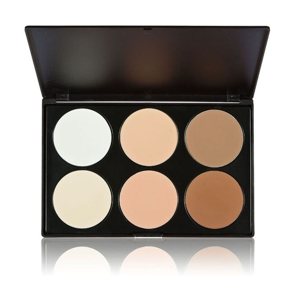 Picture of Professional 6 Color Pressed Powder Palette Nude Makeup Contour Cosmetic And New Professional 15 Color Camouflage Concealer Make Up Cream Palette