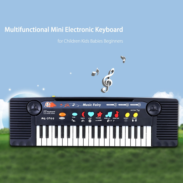 Baby Essentials Baby Toys MiC Mini 37 Key Electone Keyboard Musical Kids Baby Play Piano Educational Toy