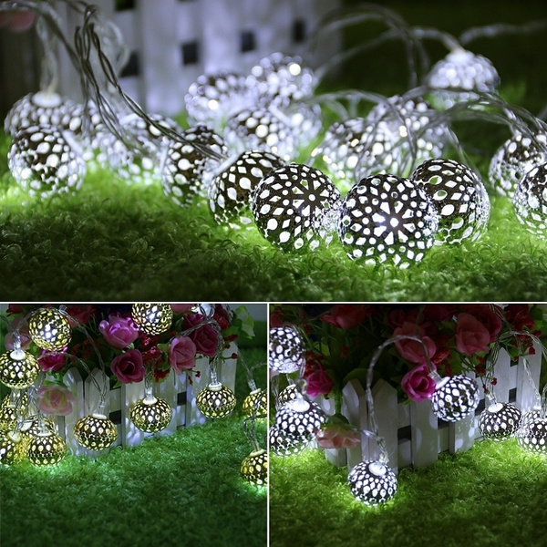 Picture of Moroccan 20 Led String Fairy Wedding Lights Lamp Xmas Party Garden Balls Decor Ang