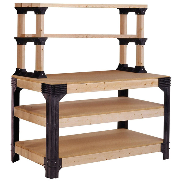 Pleasant Workbench Shelving Unit Potting Bench Storage System 2X4 Lumber Not Included Pabps2019 Chair Design Images Pabps2019Com