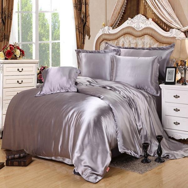 Delicieux Wish | 2/3PCS Popular Silk Damask Bed Linen Duvet Cover Jacquard Bedsheet  Sets Luxury Silk Bedding Set King Size