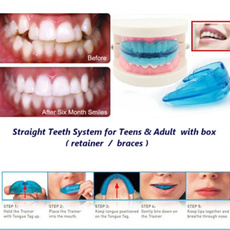 A retainer + Box Orthodontic Straight Teeth for Teens & Adult