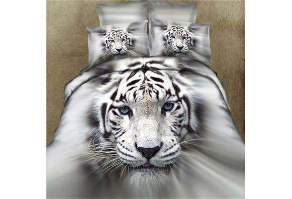 3D Tiger/Wolf Bedding Set Comforter Bedclothes Comforter Bedding Sets Size King,Size Queen,Size Twin
