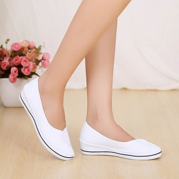 Picture of Women's Shoes Single White Work Shoes