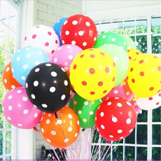 12 Inch Birthday Decoration Home Decor Mix Color Latex Polka Dot Balloon for Party Wedding Kids Children Toy (10pcs/lot)