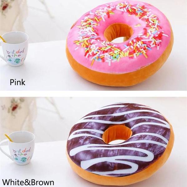 Wish | Donut Pillow Print Cojin Large Floor Cushions Multi-purpose ...