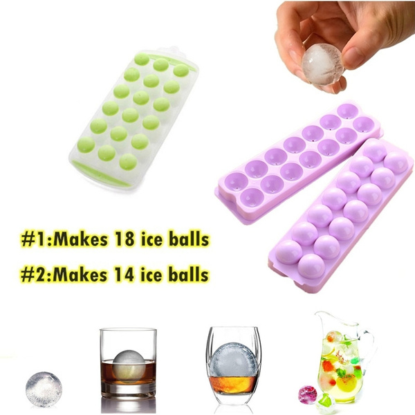 Picture of Silicone Cannonball Sphere Whiskey Ice Ball Mold Tray Kitchen Bar Party Supplies