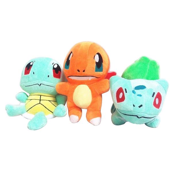 "3Pcs//set Pokemon Charmander Bulbasaur Squirtle Action Figure Toys Doll 2/"""