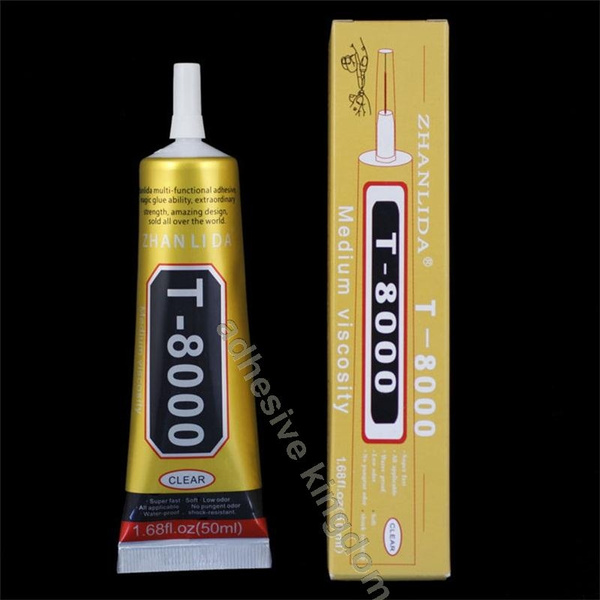 New T8000 50ml transparent glue B6000 upgrade phone touch frame show flat  screen glue point drill adhesive