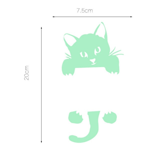 Creative Kitten Luminous Stickers Switch