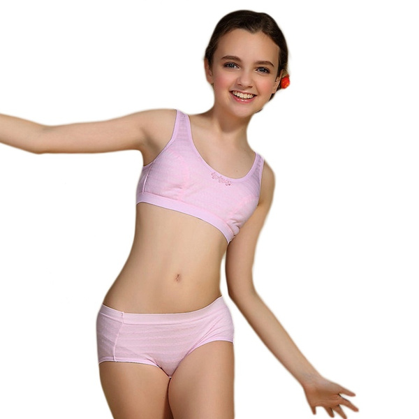 Puberty Girl Underwear Set Teenage Cotton Underwear For Young Girl