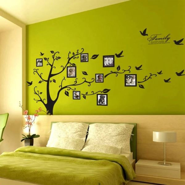 Wish | Large Photo Frame Family Tree 3D Wall Stickers Art Decal Home ...