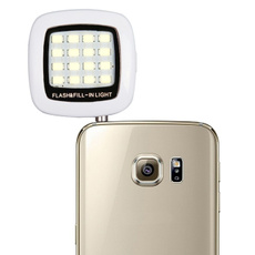 Fashion Built-in 16 Led Flash Lights for Camera Phone Mini Selfie Sync Led Flash