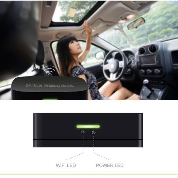 SoundMate M1 Airplay Wireless Wifi Audio Music Streaming Receiver DLNA(DMR)  Music Radio Receiver for iOS Android Airmusic Air music FLAC APE