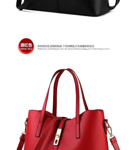 c8d55da81f1 Wish   New 2016 women handbags leather handbag women messenger bags ladies  brand designs bag bags Handbag+Messenger Bag+Purse 3 Sets