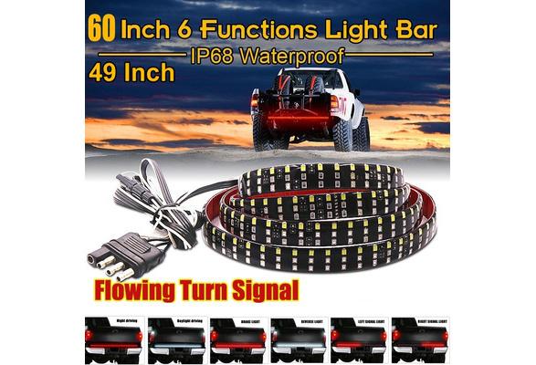 """60/"""" Long 5 Functions Full LED Rear Brake Reverse Truck Tailgate Light Strip Bar#"""