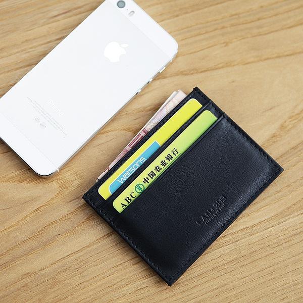 LAN   men/'s leather credit card case bank card case credit Card Holder slim case