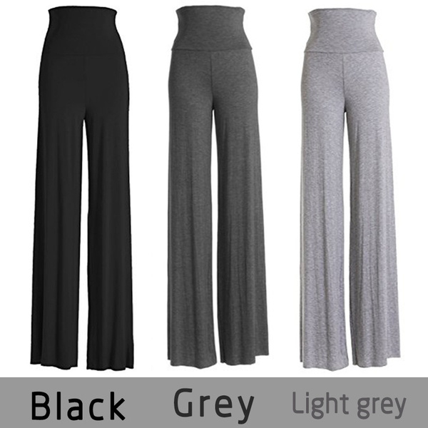 Women's Fashion Wide Leg Comfy Yoga Dance Fold Down Waist Pants