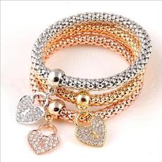 Charm Bracelet, Heart, Jewelry, Chain