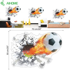 DIY Removable 3D Football Wall Sticker Home Kids Boy Bedroom Room Decor Decals