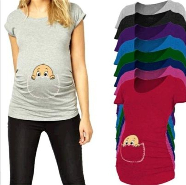 cute, Shirt, Women Blouse, pregnantclothe