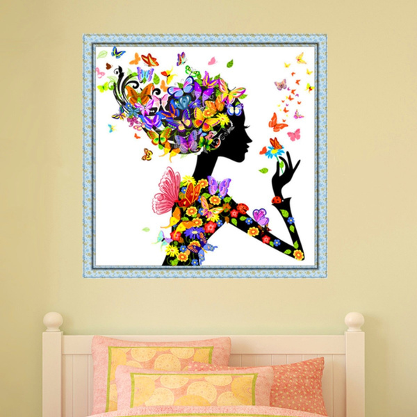 Wish | 5D Diamond Painting Cross Stitch Flower Fairy Design Kits DIY ...