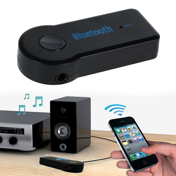 Picture of Wireless Bluetooth 3.5mm Aux Audio Stereo Music Home Car Receiver Adapter Color Black
