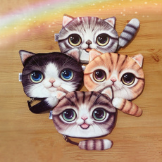ZCM Women New Coin Purse Cute Cat Animal Small Zero Wallet with Zipper for Phone Change Pocket 1 Pcs Gifts