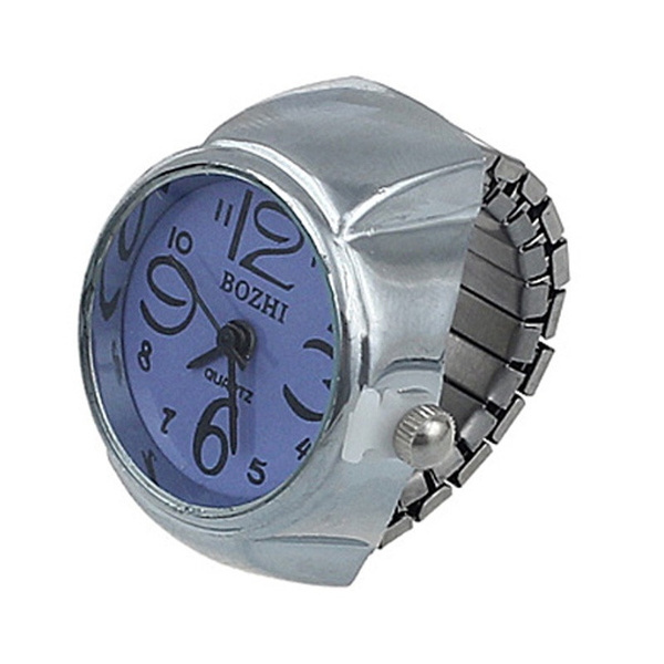 Fashion Women Mens Dial Quartz Analog Watch Creative Steel Cool Elastic Quartz Finger Ring Watch