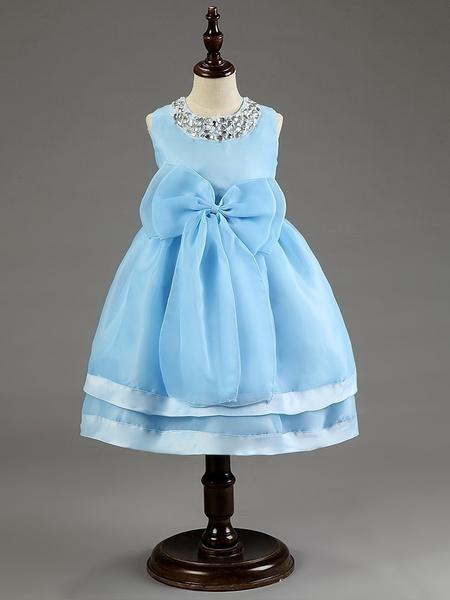 Wish   Flower Girl Dress for Wedding Kids Princess Dresses with Bow ...