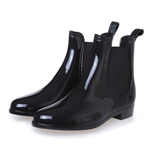 más baratas ahorros fantásticos una gran variedad de modelos Nueva moda botas de lluvia Sexy punta estrecha mujeres botas  antideslizantes para el tobillo botas casuales Rainboots plataforma para  mujer zapatos de ...