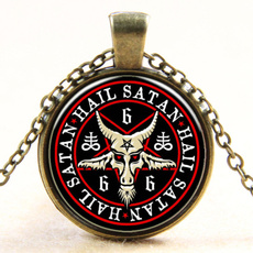 Antique, Glass, satanic, Necklace
