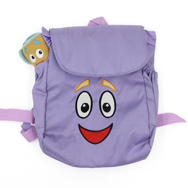 Dora The Explorer Plush Backpack Soft Purple Bag Mr. Face Map Girl Dora Backpack With Map on dora backpack and map, dora boots backpack map, dora party, dora backpack toy map,