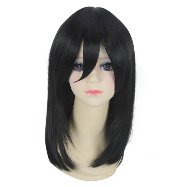 Attack On Titan Young Mikasa Ackerman Cosplay Wig New Design Charms Black Medium Long Hair Wigs