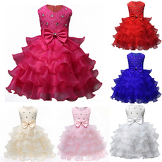 Baby Christening Girl Dress Kids Ruffles Lace Dresses for Girls Princess Tutu Dress for Wedding Party Events Wear Girls