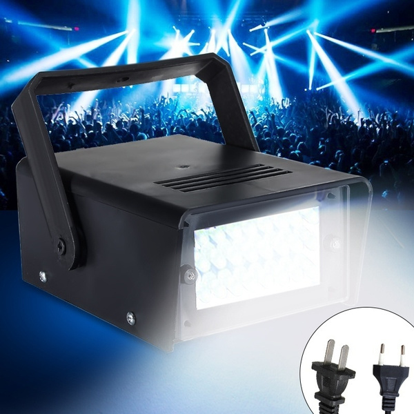 Picture of 220v 3w 24 White/red/blue/green Light Led Operated Dj Disco Party Stage Flash Lighting Effect Mini Strobe Light Laser Projector Us/eu Plug