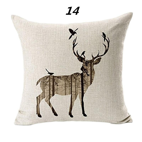 Wish | Scandinavian Style Colorful Geometric Elk Pattern Sofa Cushion Cover  Fashion Linen Pillow Case For Living Room Bedroom Decor