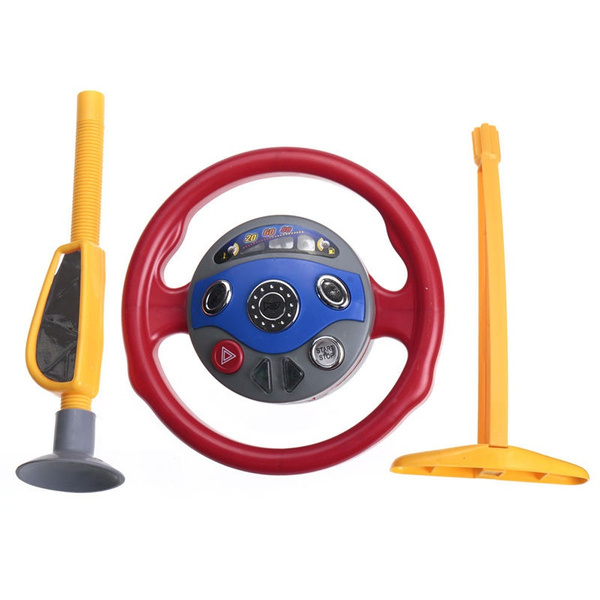 Wish | Kids Back Seat Car Steering Wheel Toys Driving Game Horn ...