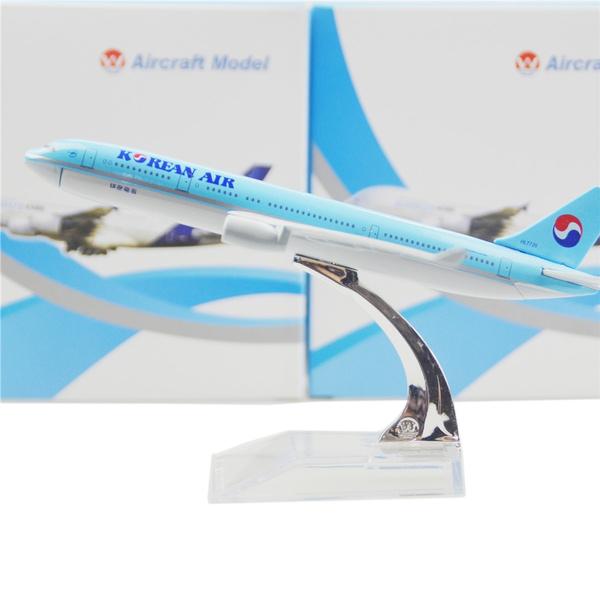 Korean Air Airbus 330 16cm model airplane kits child Birthday gift plane  models toys Christmas gift