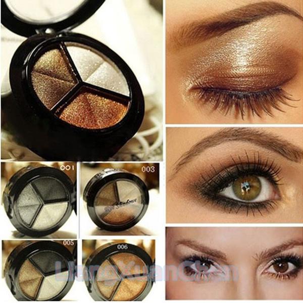 Picture of Smoky Cosmetic Set 3 Colors Professional Natural Matte Eyeshadow Makeup Eye Shadow Eye Shadow Glitter