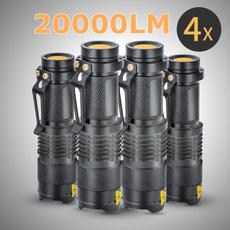 4pcs Mini Q5 LED Flashlight 2000LM Waterproof Zoomable Focus Light 14500 AA Lamp Fishing Torch 3 Modes Lantern SA9