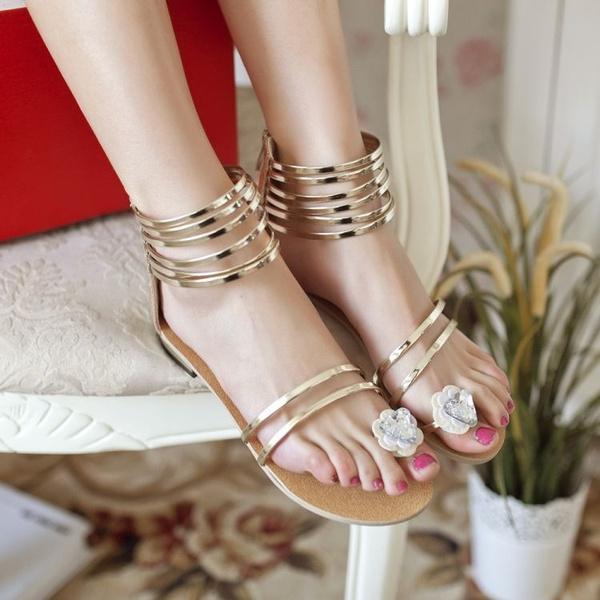 Sandalias Gladiador 2015 Mujeres Zapatos De Mujer mYvIb7gyf6
